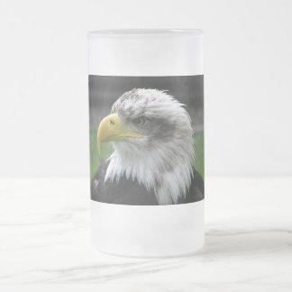 Eagle calvo taza de cristal