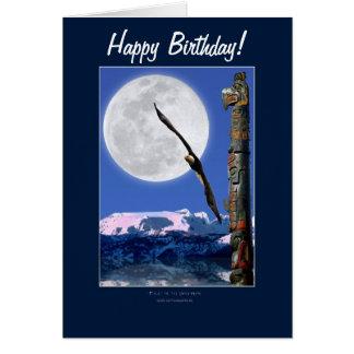 Eagle calvo, tótem y tarjetas de cumpleaños