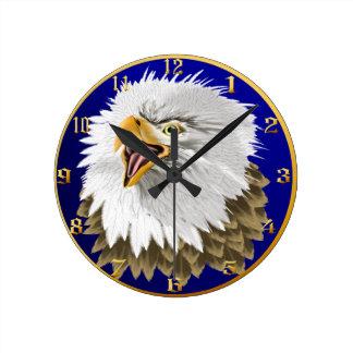 Eagle calvo Wallclock principal Reloj Redondo Mediano
