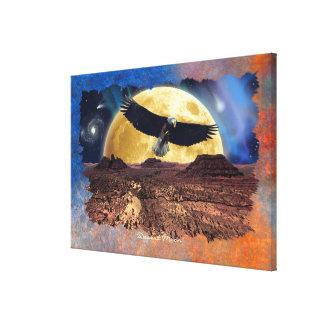 Eagle calvo y arte de la fauna de la fantasía de l lona estirada galerías