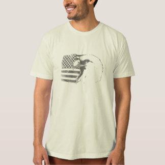 Eagle calvo y bandera americana poleras