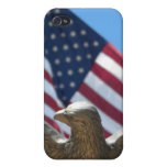 Eagle calvo y bandera de los E.E.U.U. iPhone 4 Cobertura