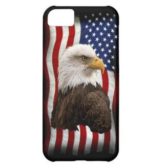 Eagle calvo y caja patriótica del teléfono móvil d