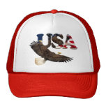 Eagle calvo y casquillo americano de la serie del  gorras de camionero