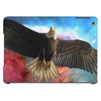 Eagle calvo y espacio exterior carcasa para iPad air