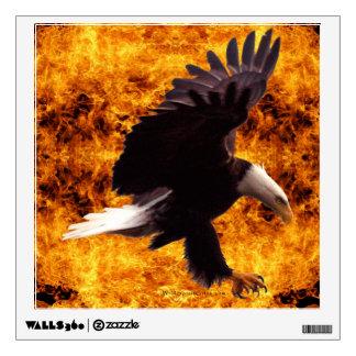 Eagle calvo y etiqueta de la pared del arte de la vinilo