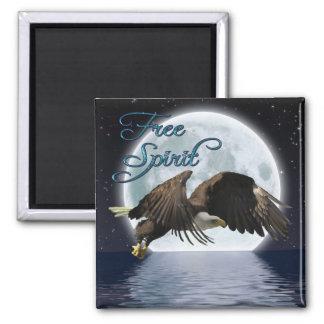 Eagle calvo y imán de motivación del espíritu libr