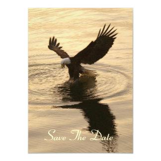 Eagle calvo y tarjetas de la invitación de la luz