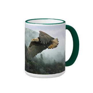 EAGLE CALVO y taza BRUMOSA del té y de café del