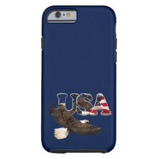 Eagle calvo y tema patriótico de la bandera de los funda para iPhone 6 tough