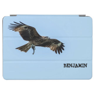Eagle Carrying a Fish in Flight Against Blue Sky iPad Air Cover