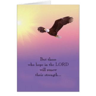 Eagle Christian Encouragement Strength Hope Card