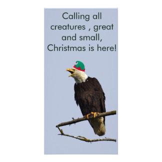 Eagle Christmas postcard