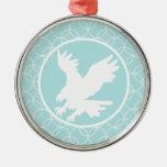 Eagle; Círculos de los azules cielos Ornamentos Para Reyes Magos