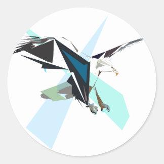 eagle classic round sticker