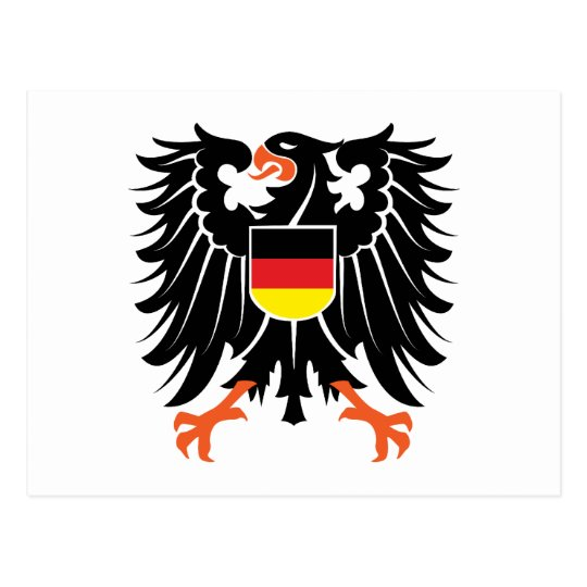 Eagle coat of arms Germany Eagle crest Germany Postcard