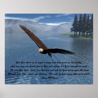 Eagle con el poema póster