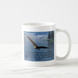 Eagle con el poema taza