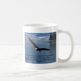 Eagle con escritura tazas de café