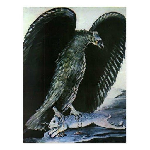 Eagle con las liebres de Niko Pirosmani Postales