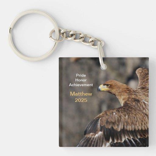 Eagle - Congratulations - Customizable - Keepsake Acrylic Key Chain