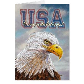 Eagle Congratulations Greeting Card