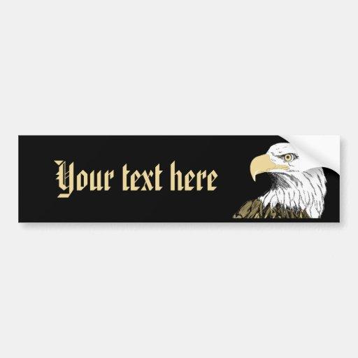 Eagle: Cree sus los propios Etiqueta De Parachoque