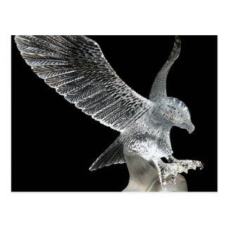 Eagle cristalino tarjeta postal