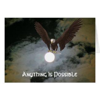 Eagle cualquier cosa es tarjeta inspirada posible