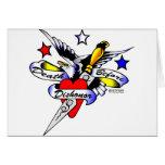 Eagle, Dagger & Heart Old Skool Tattoo Greeting Cards