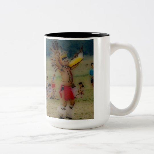 'Eagle Dancing Warrior' Two-Tone Coffee Mug