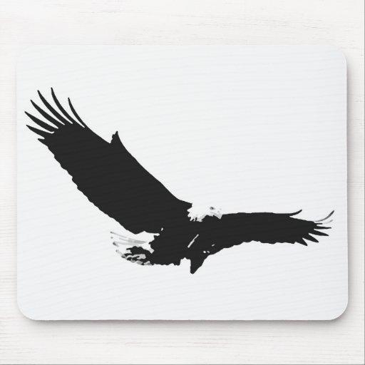 Eagle de aterrizaje negro y blanco tapete de ratón