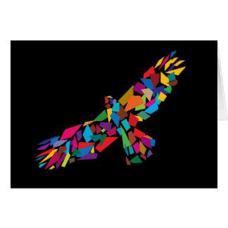 Eagle de elevación tarjeta de felicitación