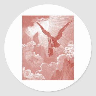 Eagle de Gustavo Dore Pegatina Redonda