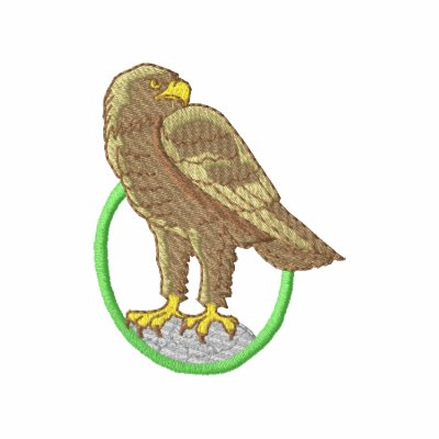 Eagle de oro camiseta polo bordada