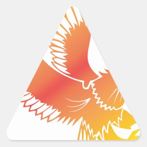 Eagle de oro colcomanias triangulo personalizadas