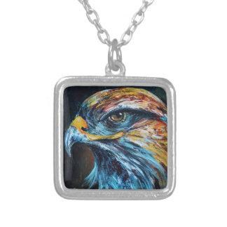 Eagle de oro colgante cuadrado