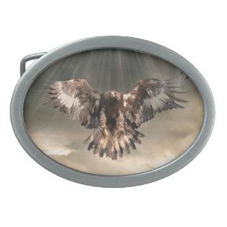 Eagle de oro hebillas cinturón ovales