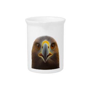 Eagle de oro jarron