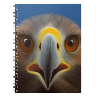 Eagle de oro libro de apuntes con espiral