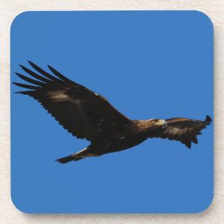 Eagle de oro posavasos de bebida