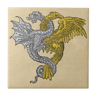 Eagle de oro y dragón de plata azulejo ceramica