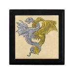 Eagle de oro y dragón de plata cajas de regalo