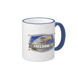 Eagle-Deje el anillo de la libertad Taza