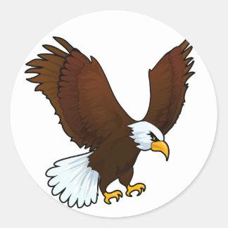 Eagle Design Classic Round Sticker