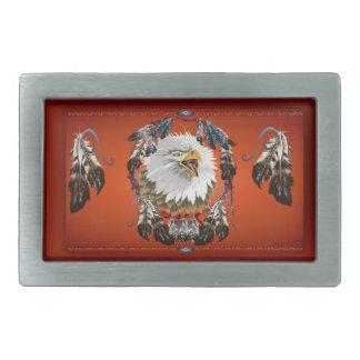 Eagle_Dreamcatcher  Head Buckle Rectangular Belt Buckle