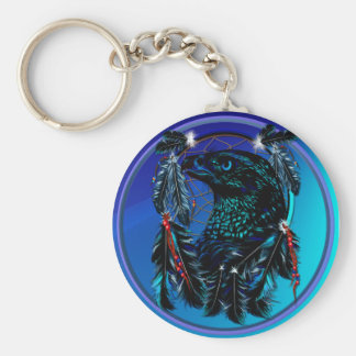 Eagle_Dreamcatcher-Keychain negro Llavero
