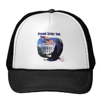 Eagle e hijo orgulloso del ejército de las bandera gorro