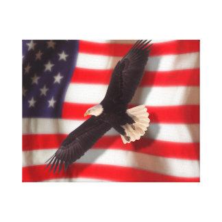 Eagle e impresión de la lona de la bandera impresiones de lienzo