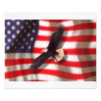 Eagle e impresión fotográfica de la bandera cojinete